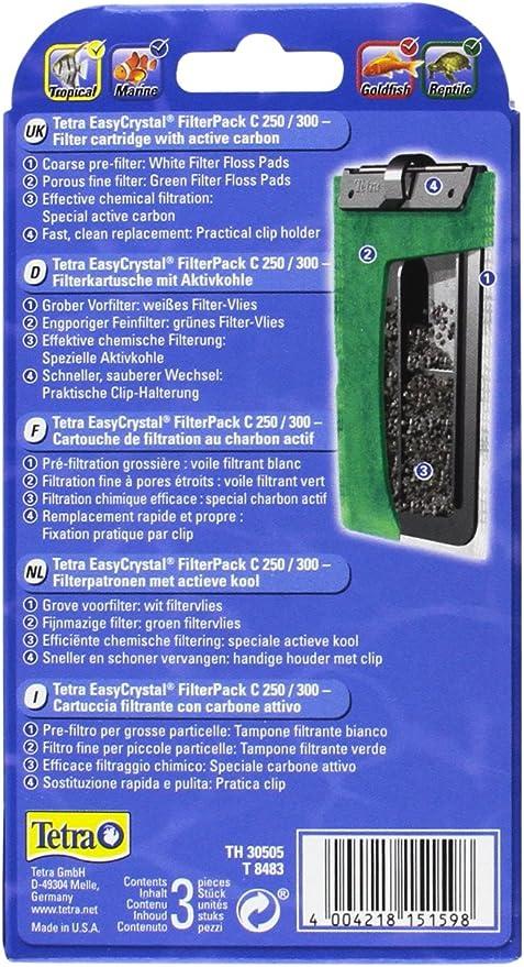 Tetra EasyCrystal Filterpack Carbon 250/300: Amazon.es: Productos para mascotas