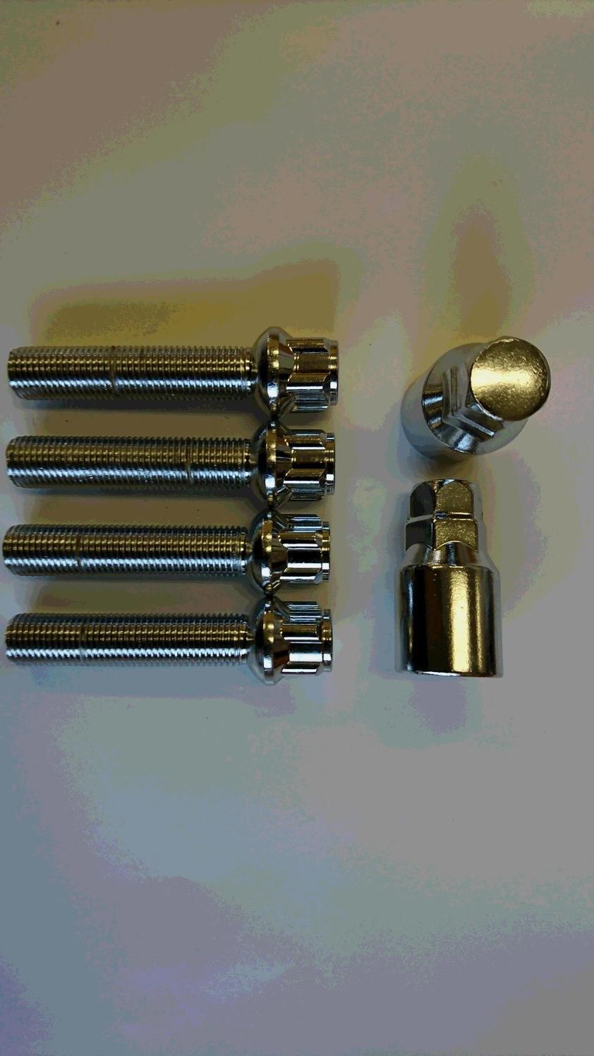 メッキロックボルト R13 14x1.5 首下25mm~60mm 1mm単位で選択可能 B076WXLKLZ