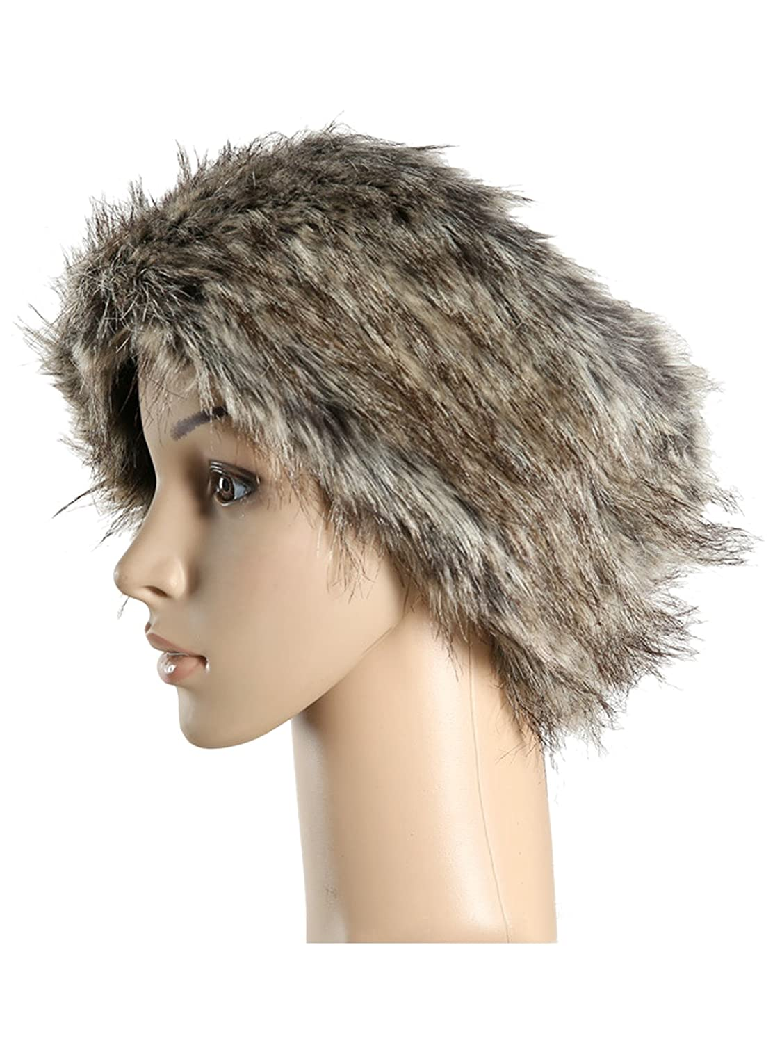 HnB Women Artificial Fur Headband for Winter Earwarmer Earmuff Ski Hat