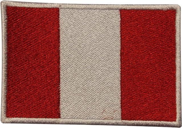Parche bordado con la bandera nacional de Perú para coser o planchar, para ropa, etc.: Amazon.es: Hogar