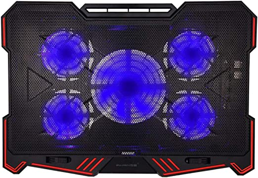 Ventiladores Soporte Portátil, 5 Big Ultra Quiet Fans, Gaming ...