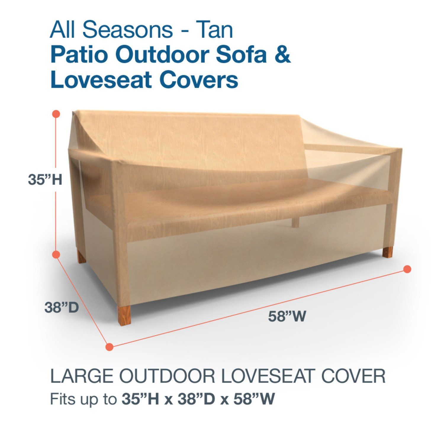 Amazing Amazon.com : Budge All Seasons Outdoor Patio Loveseat Cover, Large (Tan) :  Patio Chair Covers : Garden U0026 Outdoor