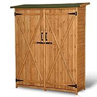 Mccombo 64-inch Fir Wood Garden Shed