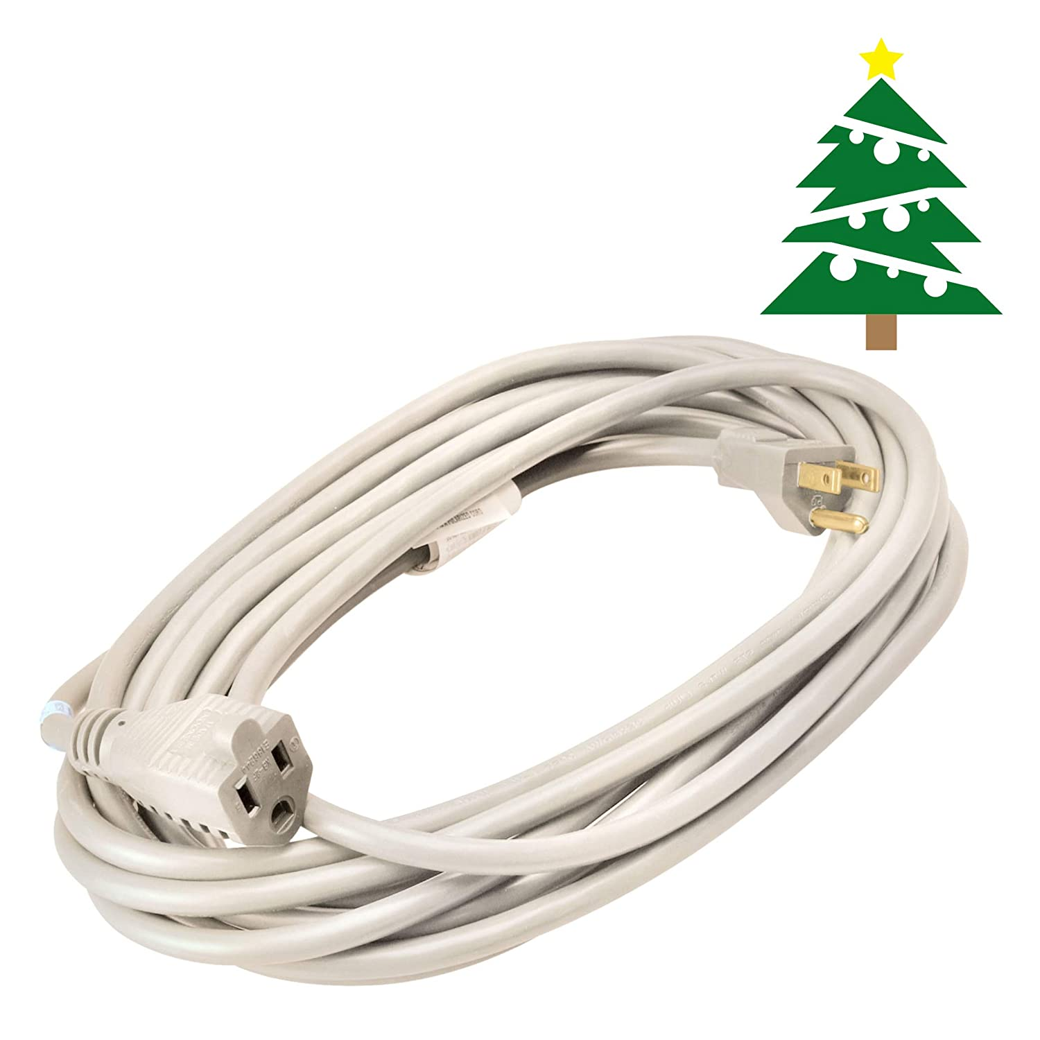 Coleman Cable Outdoor Extension Cord In White 20 Ft 16 Gauge Fixture Wiring As Well A Light Wires Besides Electrical