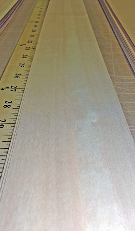 """Anigre mild figure wood veneer 3/"""" x 100/"""" with no backing raw 1//42/"""" thickness"""