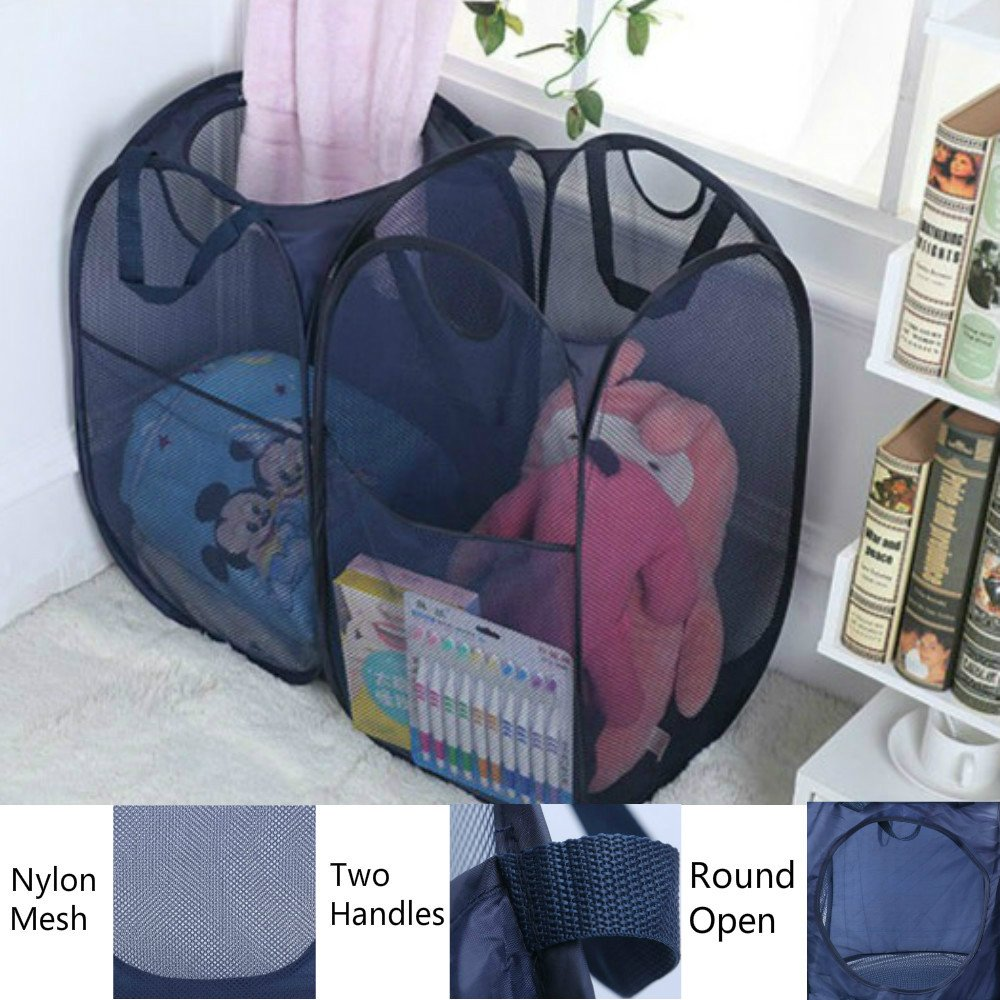 MDcharm 2 Pop up Laundry hampers - Collapsible Laundry Basket, Dirty Clothes Hamper with Handles, Plush Toy Organizer by MDcharm (Image #4)