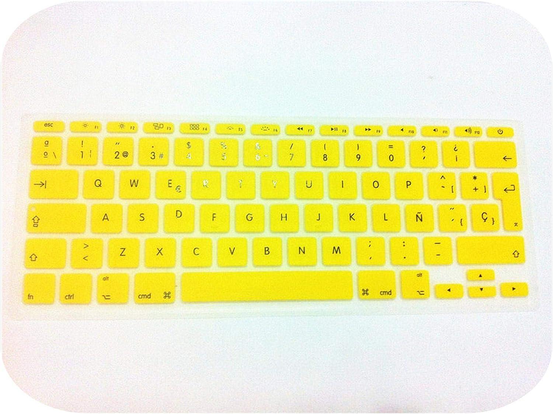 Spanish UK//EU Silicone Soft Keyboard Cover Skin Sticker Protective Film for MacBook Air 11.6 Inch 11 EU Layout-Darkblue