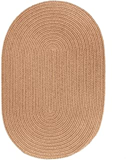 product image for Rhody Rug Madeira Indoor/Outdoor Braided Rug Camel 2' x 3' Oval Synthetic, Polypropylene Antimicrobial, Stain Resistant 2' x 3' Outdoor, Indoor Oval