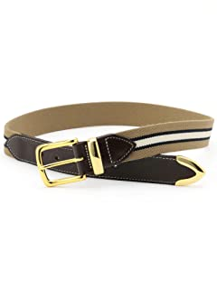 Bridle Leather Surcingle Belt 118-13-1129: Khaki Regimental