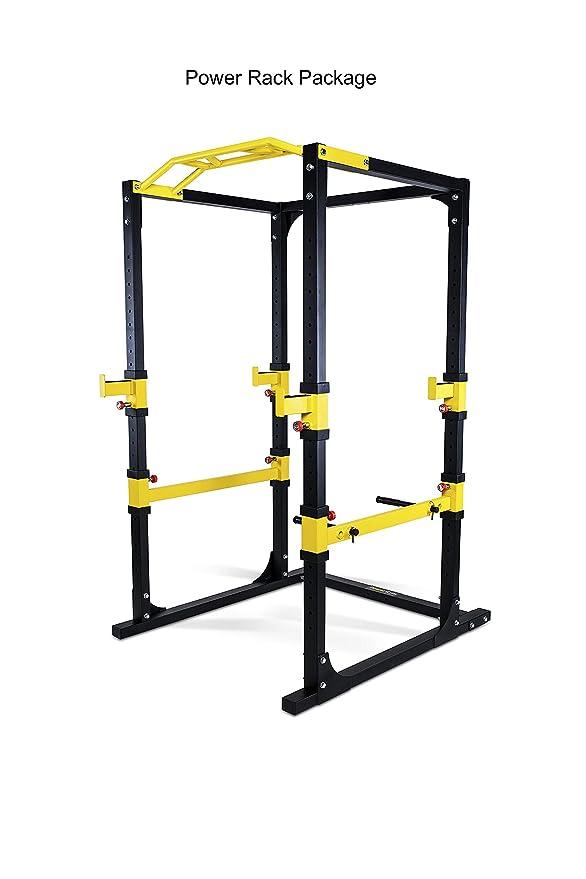 POWERGYM FITNESS Power Rack Semi Comercial: Amazon.es: Deportes y ...