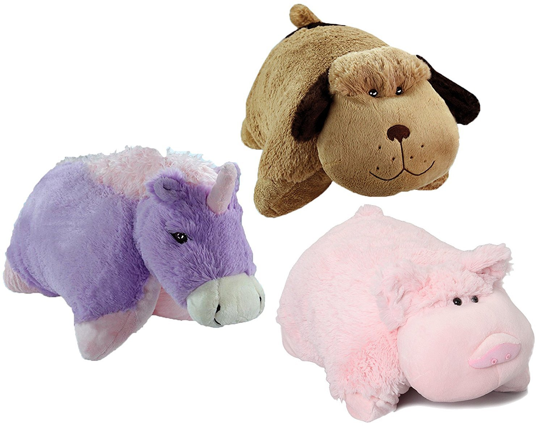 Amazon Com Pillow Pets Pee Wees Plush Stuffed Animal Magical