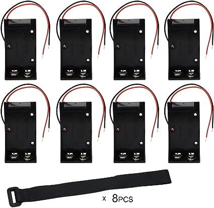 KEESIN Caja del soporte de la batería 9V Caja de almacenamiento de ...