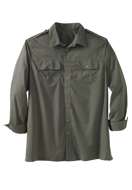 Boulder Creek Mens Big /& Tall Long Sleeve Pilot Shirt