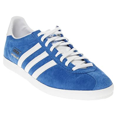 8d7c9685 Adidas Original Gazelle OG Blue White Suede New Mens Trainers Shoes Boots-7