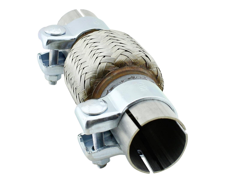 /Ø 55x500mm Rohrschelle Universal Verbindungsst/ück Rohr mit Aufweitung Auspuff Reparaturrohr Schelle Doppelschelle Klemmst/ück Rohrverbinder Abgasanlage