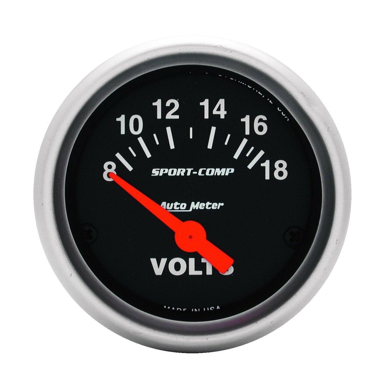 Auto Meter 3391 Sport-Comp Electric Voltmeter Gauge by AUTO METER