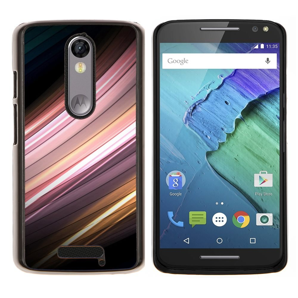 For Motorola Droid Turbo 2 / Moto X Force Case , Sensor de movimiento- Diseño Patrón Teléfono Caso Cubierta Case Bumper Duro Protección Case Cover Funda: ...
