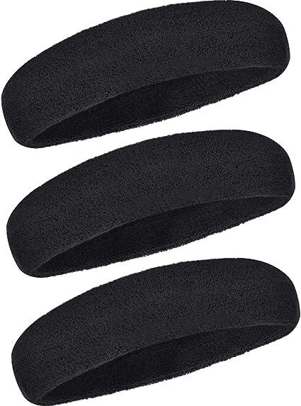 Noir 10 cm de large tissu extensible bandeau cheveux bande Gym Course Sports Football.