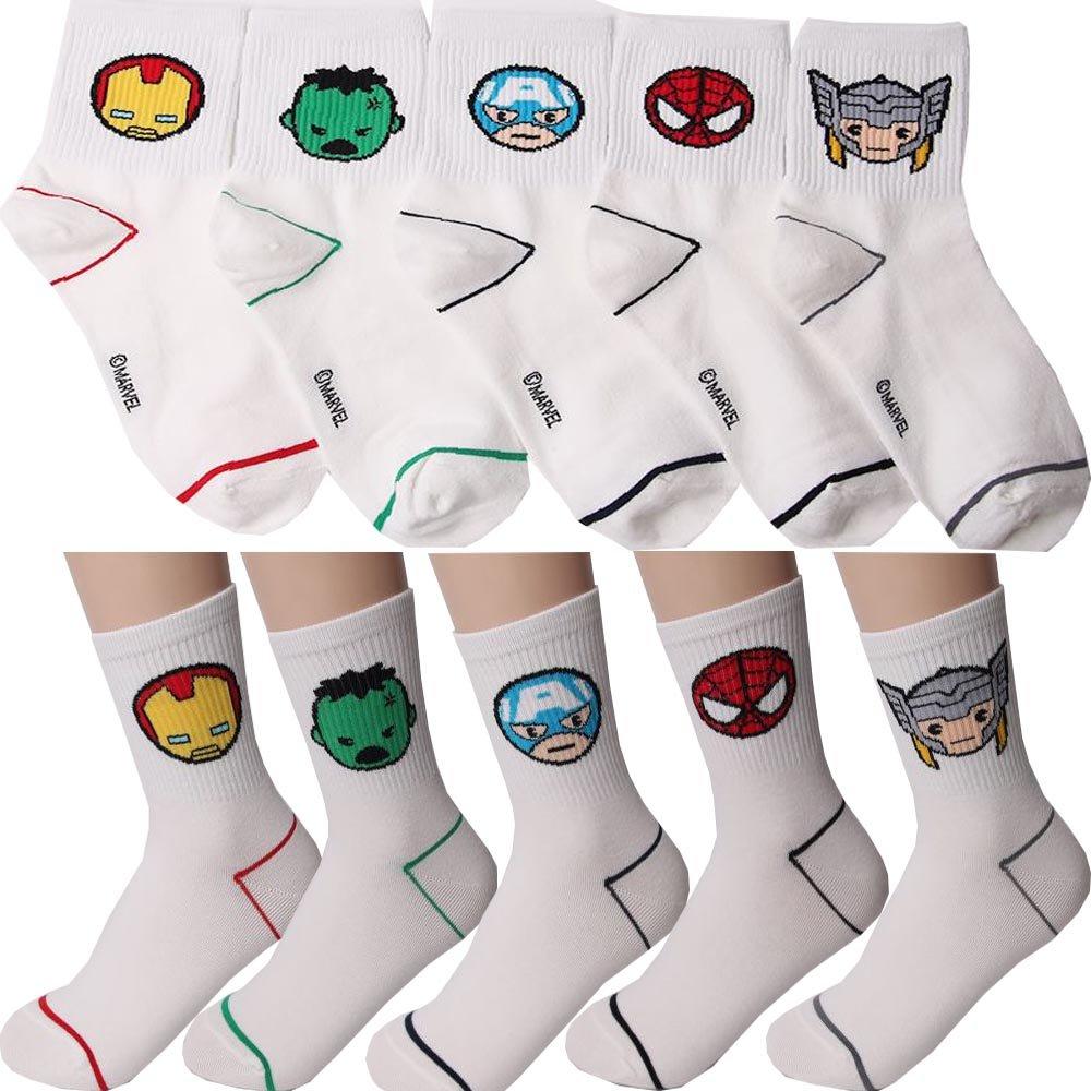Calze Marvel per Bambini Confezione da 5 M Small luxury socks factory