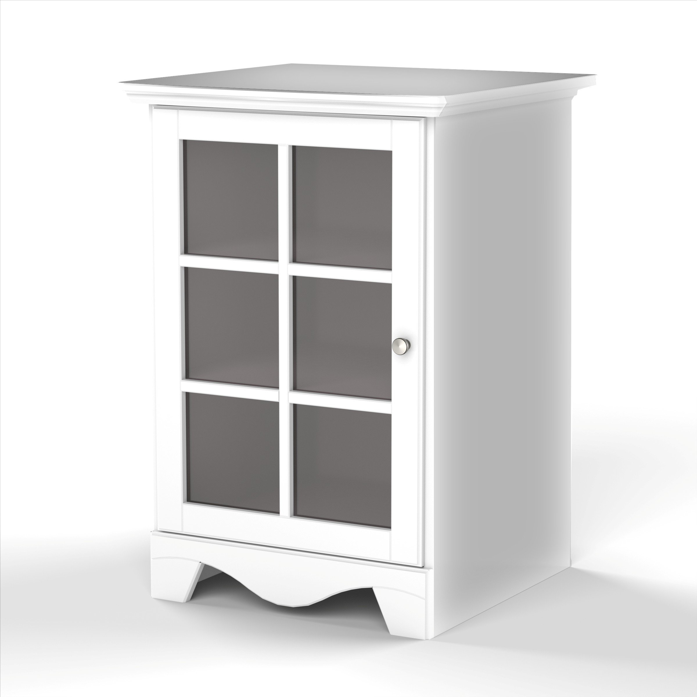 Pinnacle 1-Door Audio Tower 101503 from Nexera - White by Nexera