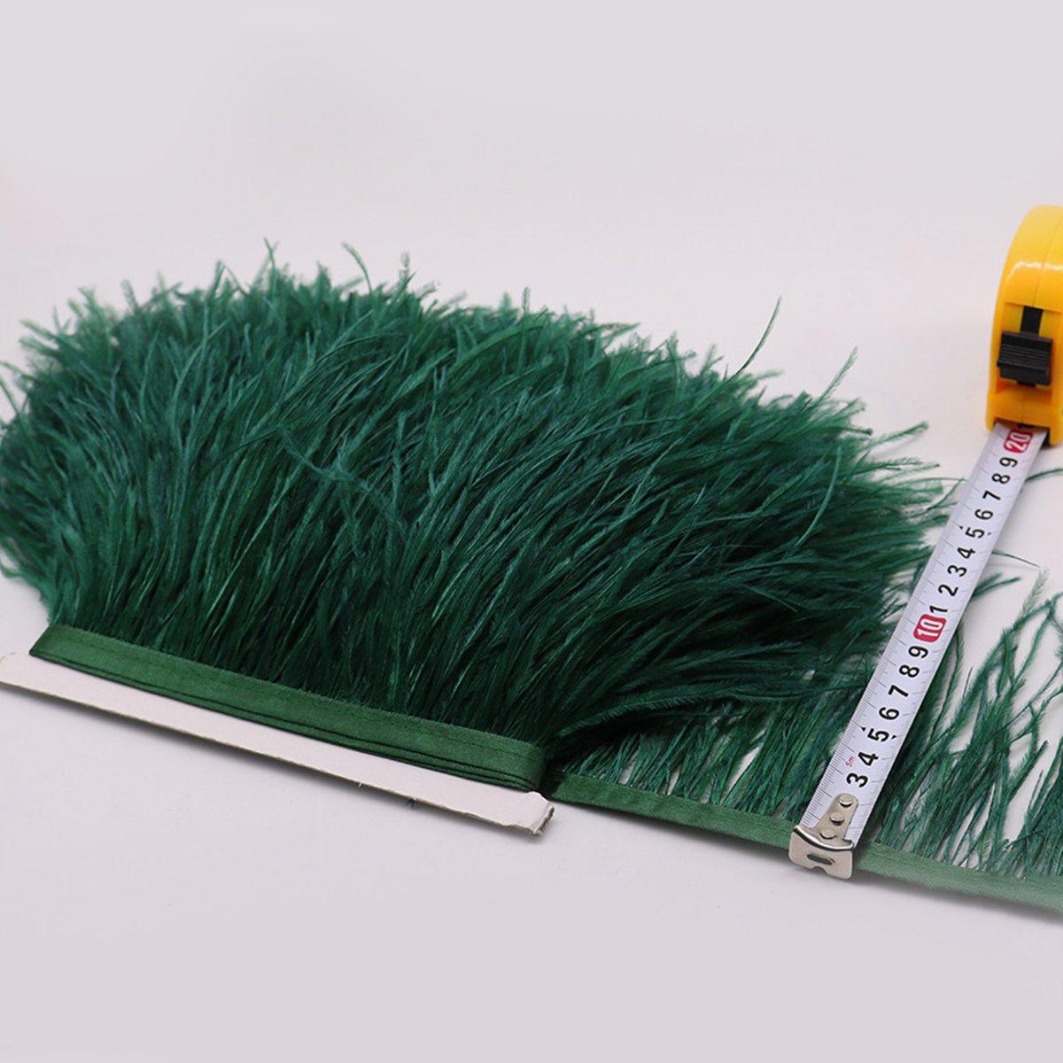 Banda de plumas DIY ropa de danza o Halloween 2/m Rosenice verde oscuro cinta para coser