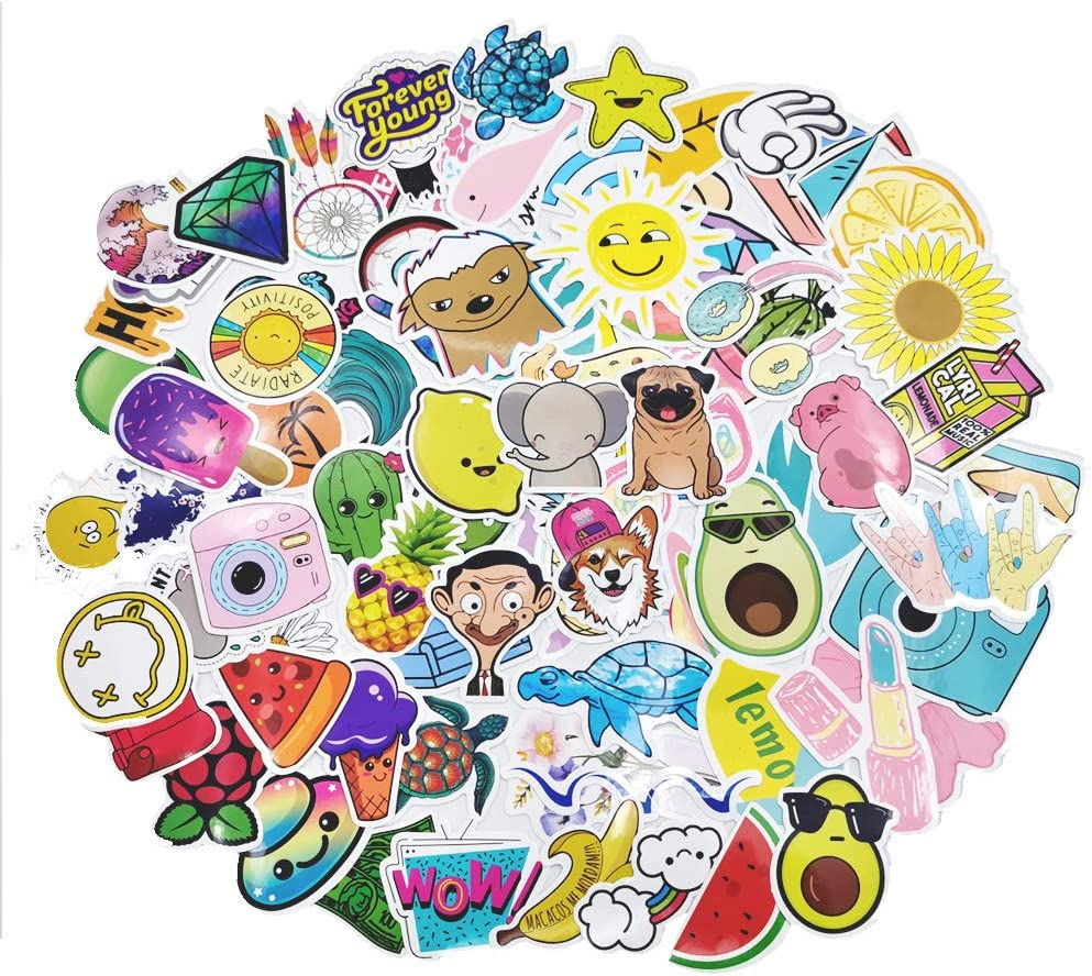 Cute Vsco Stickers for Girls, Kids and Teens,Water Bottle Laptop Computer,Skateboard,Luggage Sticker 85 pcs
