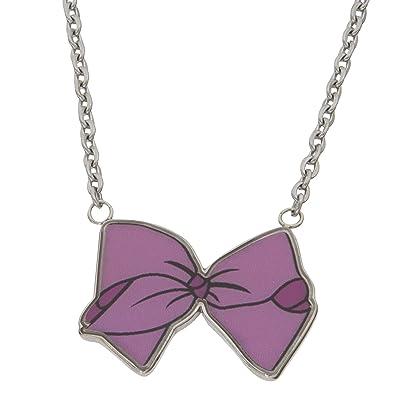 1f3f2519ccf43 Amazon.com: jojo siwa Stainless Steel Enamel Bow Necklace 16