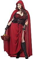 California Costumes Women's Plus-Size Dark Red Riding Hood Plus