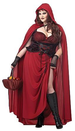 c1d20d95b09 Amazon.com  California Costumes Women s Plus-Size Dark Red Riding ...