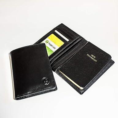 Faithfold Bible-Wallet (Black Wallet with Black NKJV New Testament)
