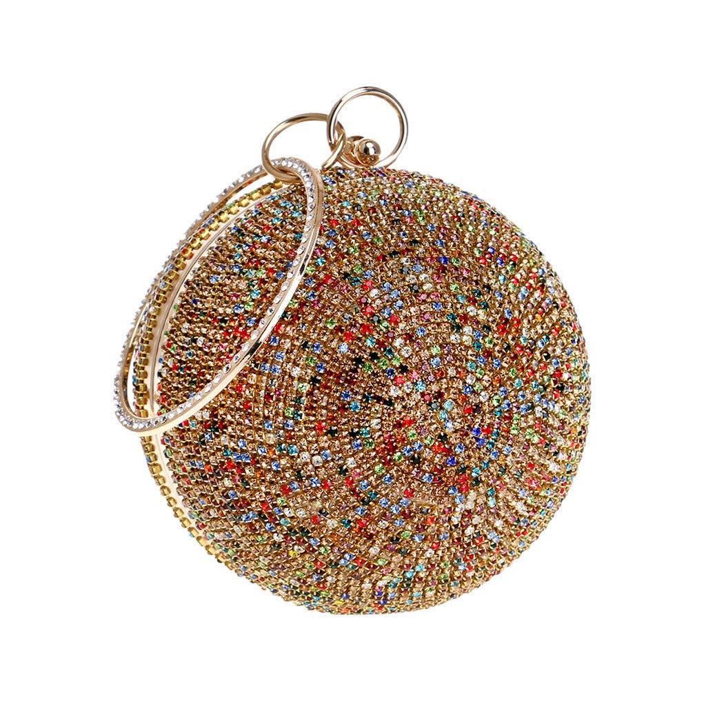Women Sparkly Bag, Ladies Fashion Evening Handbags Party Ball Designer Chain Clutch Purse Bag Prom Wedding Shoulder Cross Bag