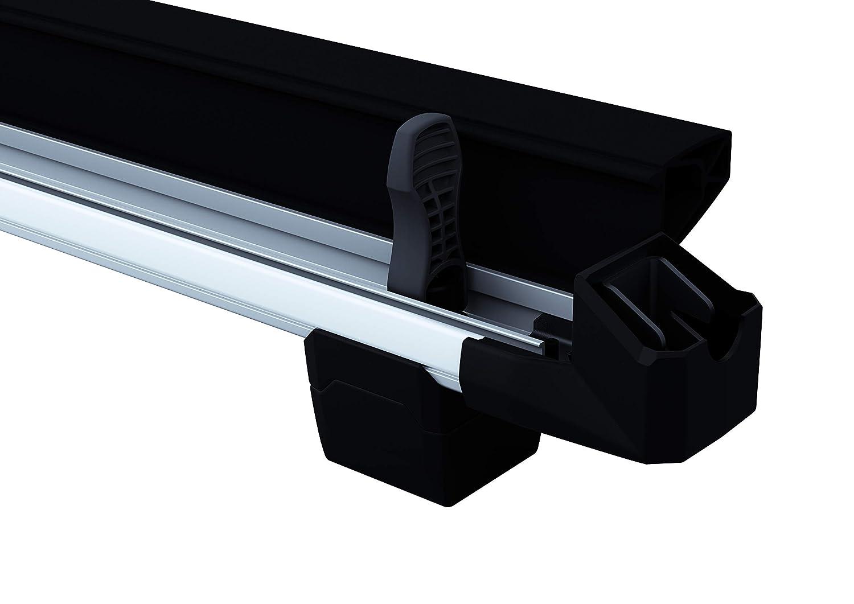 Thule 732400 SnowPack Portasci per 4 Paia di Sci//2 Tavole da Snowboard M Alluminio