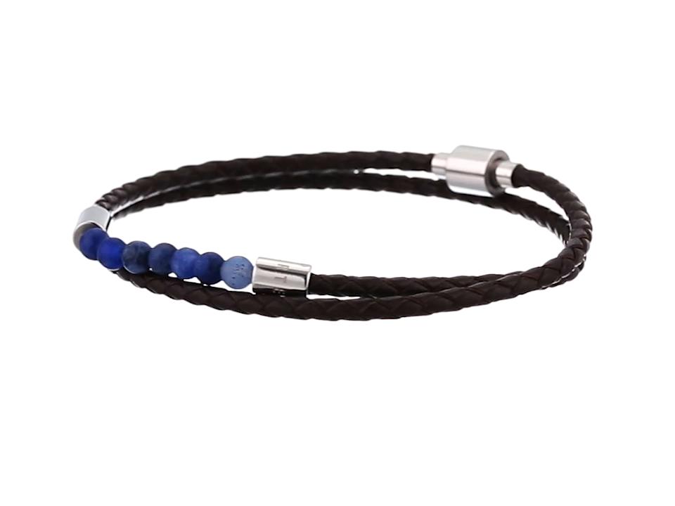 d7e5dd76e Amazon.com  Ted Baker Men s LIZAA Bead and Leather Bracelet