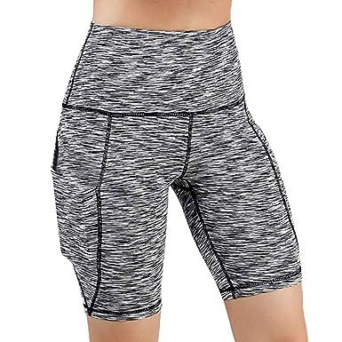Amazon.com: Mikkar High Waist Out Pocket Womens Yoga ...