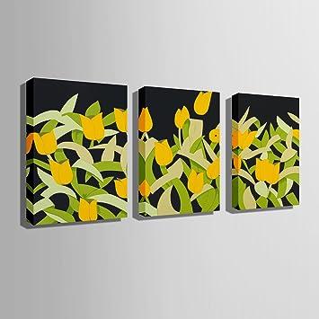 Homee JM Art Wand Gemälde (Kleine Gelbe Blumen) Bilder Für Wohnzimmer  Dekoration Qualität Und