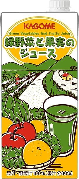 カゴメ ホテルレストラン用 緑野菜と果実のジュース 1L×6本