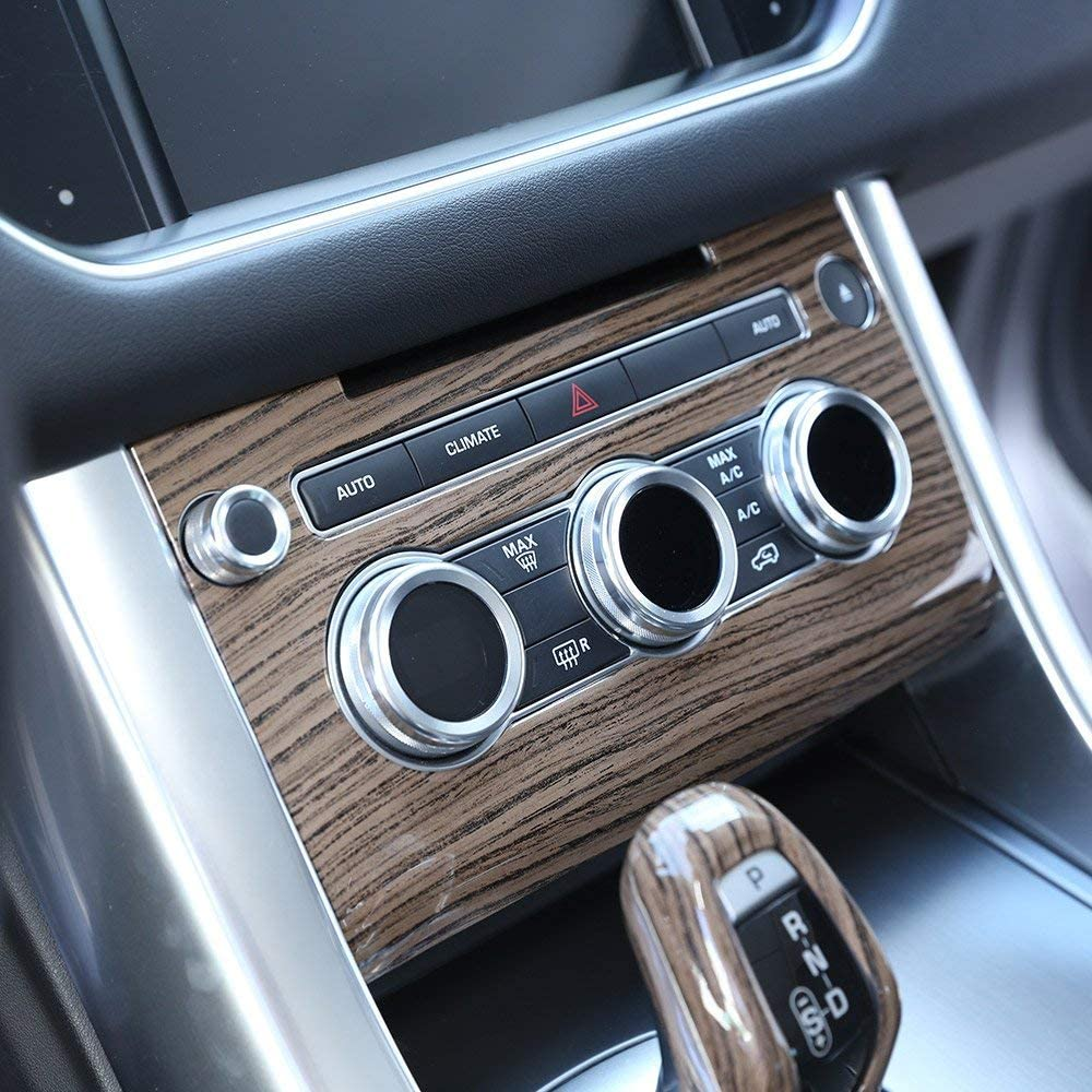 ABS Plastic Central Console Air conditioning Volume Control Panel Cover Trim red ash wood for Land Rover Range Rover Sport RR Sport 2014-2017