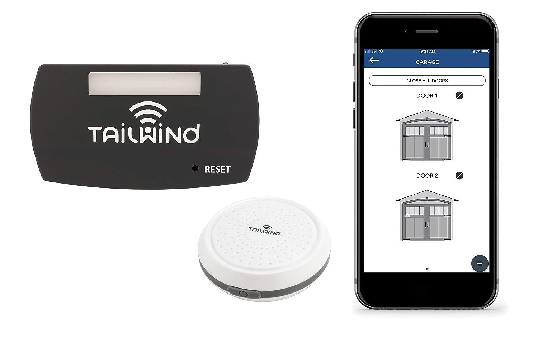 Tailwind iQ3 Smart WiFi Garage Door Opener Internet Enabled Garage Door Remote Control Compatible with Your Smartphone Alexa and Google Home Assistant. Vehicle Sensor Included. Up to 3 Doors.