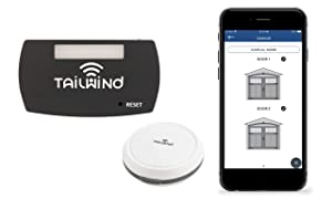 Tailwind iQ3 Smart WiFi Garage Door Opener - Internet Enabled Garage Door Remote Control Compatible With Your Smartphone, Alexa, Google Home, and Siri Shortcuts. Vehicle Sensor Included. Up to 3 Doors
