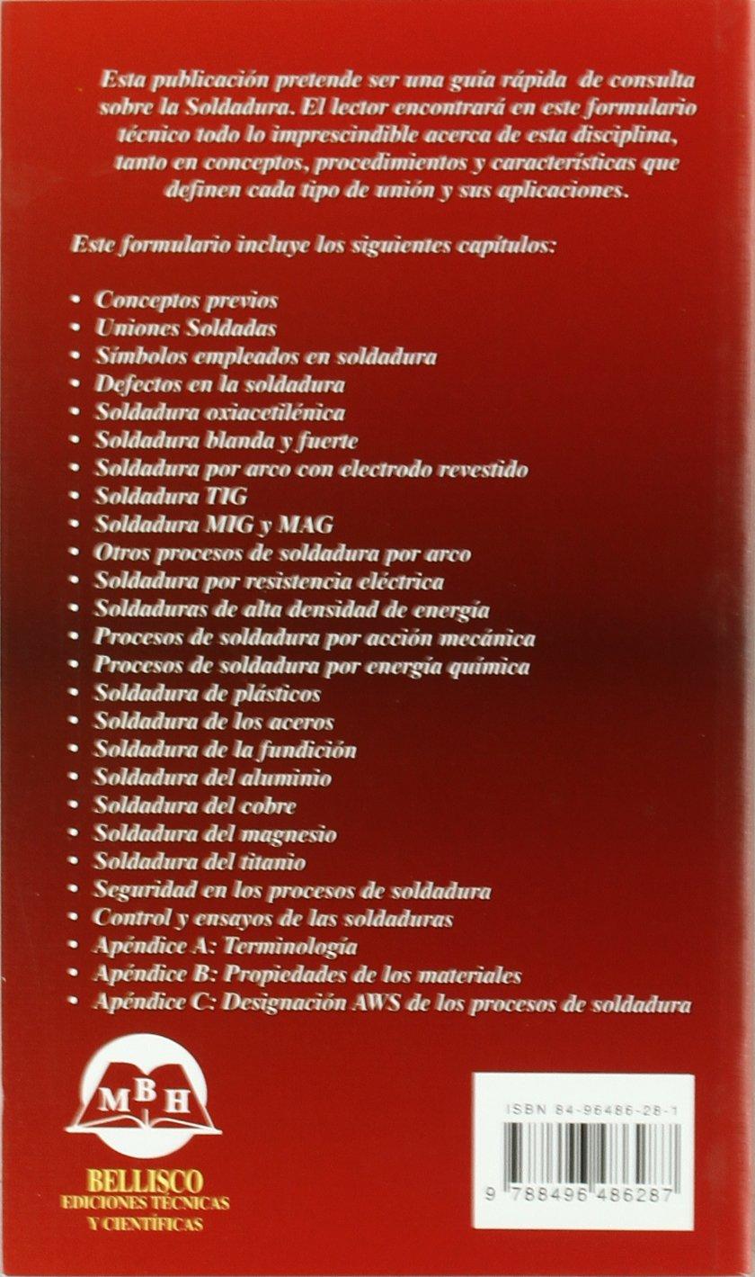 Formulario técnico de soldadura: David Rodríguez Salgado: 9788496486287: Amazon.com: Books