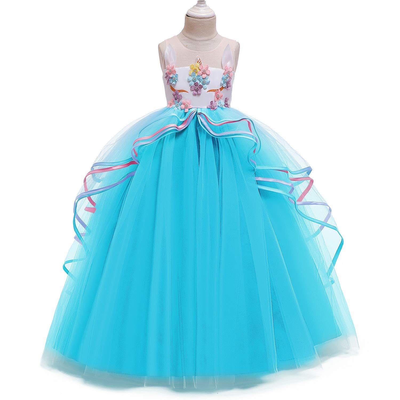 Amazon.com: NNJXD - Vestido de princesa con diseño de ...