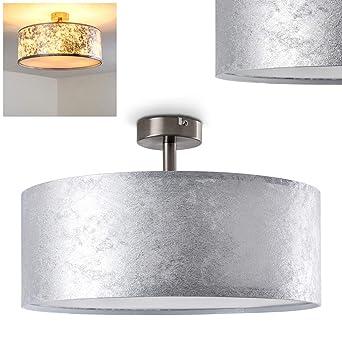Lámpara de techo Foggia color plateado, 40 cm, 3 x 40W max