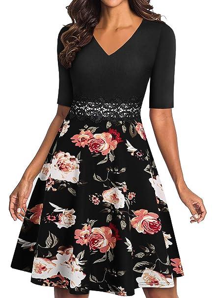 Amazon.com: YATHON - Vestido de cóctel para mujer, elegante ...