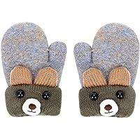 Guantes de invierno gruesos cálidos de franela guantes invierno con diseño de oso con forro de terciopelo térmicos…