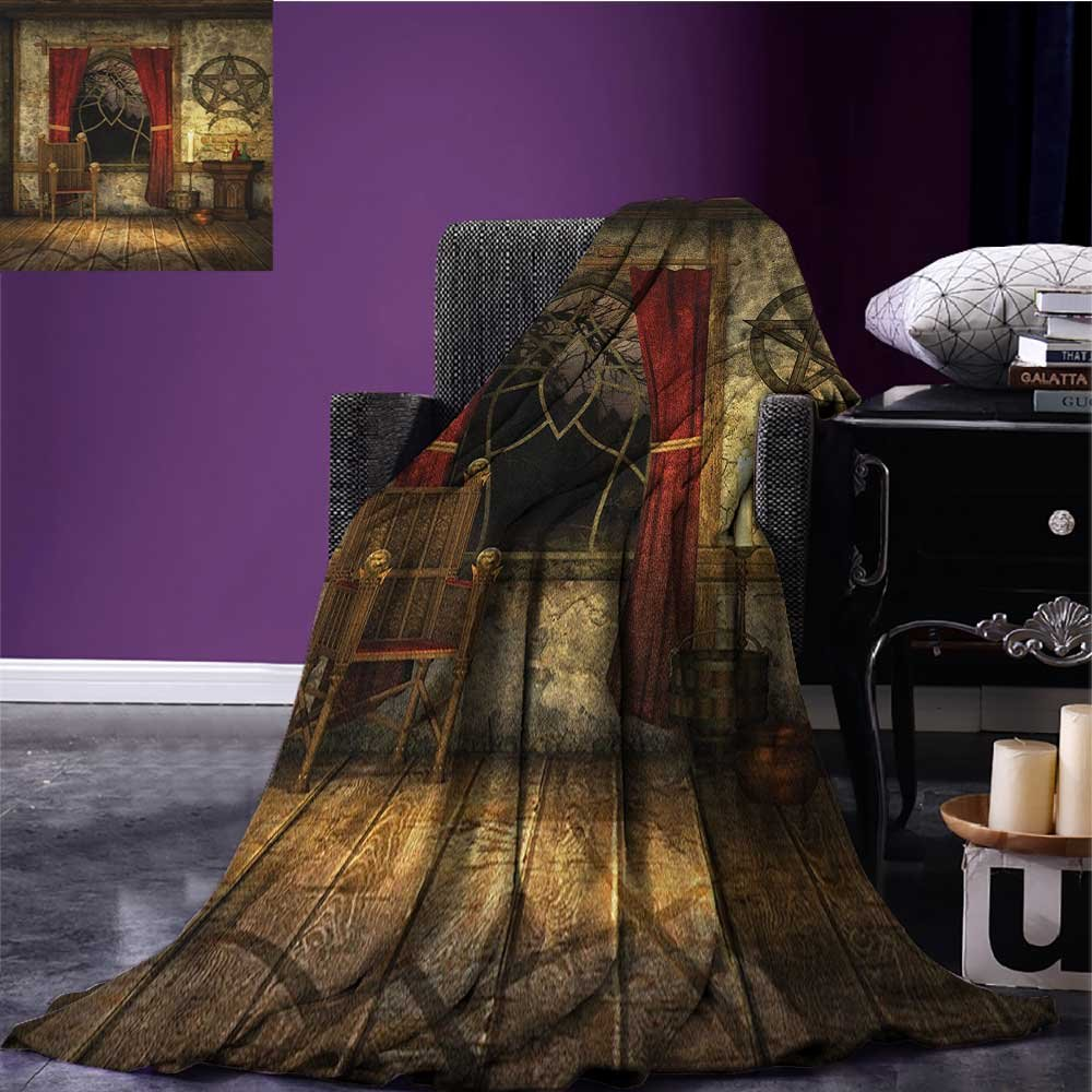 Amazon.com: Gothic couch blanket Big Gothic Building Sea ...