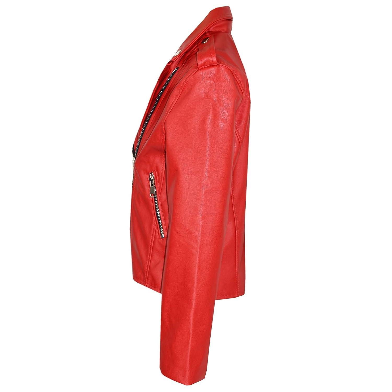 A2Z 4 Kids/® Bambini Giacca Ragazze Progettista PU Rosso Giacca Di Pelle Moda Motociclista Con Cerniera Cappotto Cappotti Nuova Et/á 5-13 Anni