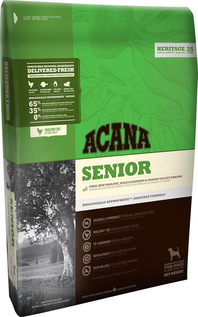 ACANA Senior - Comida para perro, 11.4 kg, 1 saco