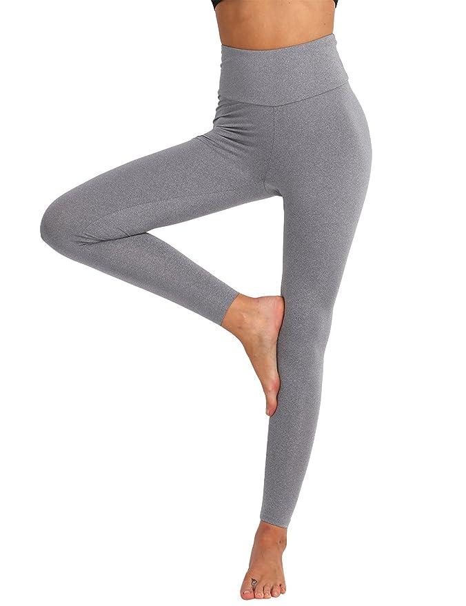 TiaoBug Femme Legging de Sport Pantalon de Yoga Fitness Jogging Collants  Taille Haut Legging Dos Plissé Elastique Pantalon de Danse Ballet Gym  Running ... 9ec171ba3abd