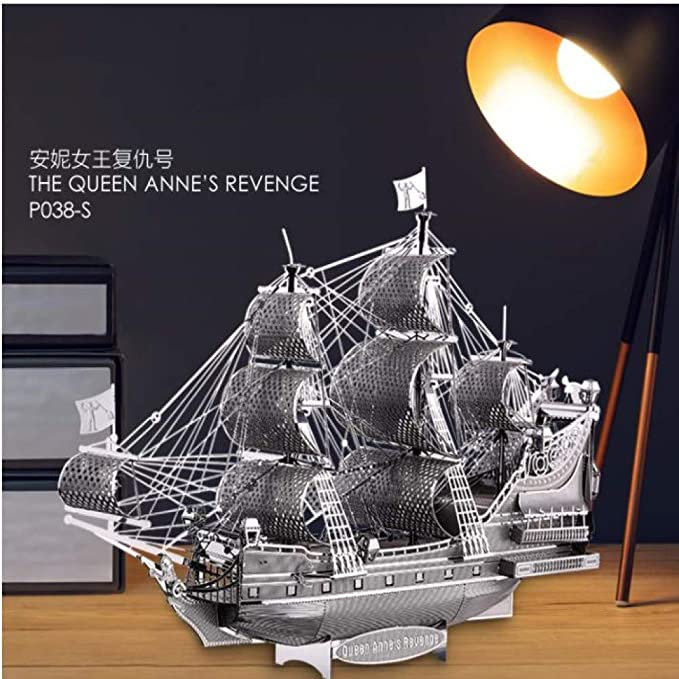 MQKZ DIY Metal Puzzle Modelo ensamblado / Reina Anne - Piratas del ...