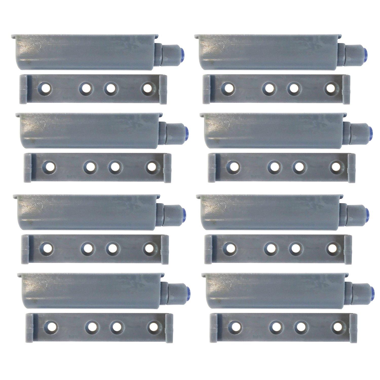 8 St/ück Push-to-Open-System T/ür/öffner Druck-Schnapper Puffer mit Gummi-Spitze f/ür grifflose /Öffnung von T/üren und Klappen Dekati Komplett-Set